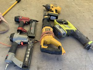 Two nail guns two saws and. Impact drill for Sale in Austin, TX