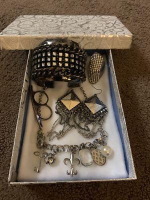 Goth glam dark silver jewelry set for Sale in Orange, CA