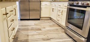 Martinez wood Refinishing kitchen cabinets any color stain paint repair we can do countertop quartz granite marble floor tile vinyl laminate wood st for Sale in Ontario, CA