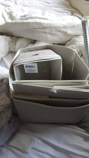 12 cream cloth storage containers for Sale in Renton, WA