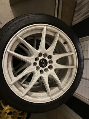JNC030 Wheels White (Tires Included) for Sale in Orlando, FL