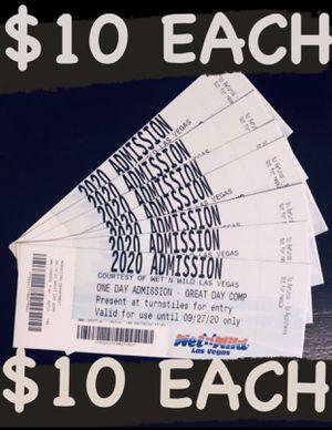 Wet n wild tickets $10 each for Sale in Las Vegas, NV