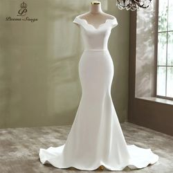Elegant Sexy simple style boat neck mermaid wedding dress for Sale in Atlanta,  GA