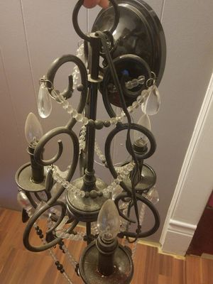 Beautiful black & white crystal beads chandelier for Sale in Glassport, PA