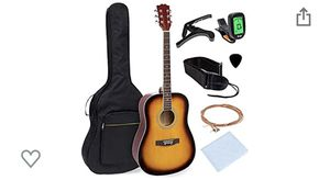 Best Choice Products 41in Full Size All-Wood Acoustic Guitar Starter Kit w/Gig Bag, E-Tuner, Pick, Strap, Rag - Sunburst for Sale in Warminster, PA