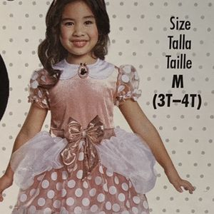 Minnie Mouse Rose Gold Disney Costume Size 3T-4T $40 Firm Price for Sale in Whittier, CA