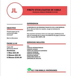 Firestick tv Jailbroken Cable for Sale in Boston, MA
