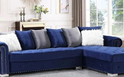 S8186 Milan Sectional (Blue) for Sale in Sugar Land,  TX