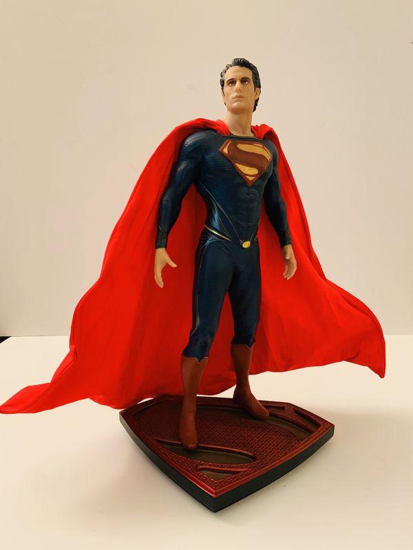 DC Collectibles Man Of Steel Movie Collectors Set of 3 Figures Superman, Jor-El, and General Zod Statues