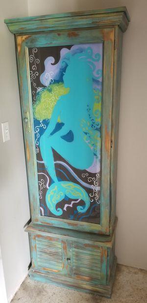 Mermaid Custom Painted Gun Cabinet for Sale in Sarasota, FL