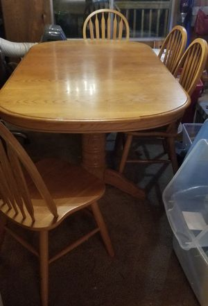 Oak wood table from Old Cannery for Sale in Bonney Lake, WA