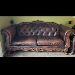 FREE Leather Sofa Coffee table and 1 End Table for Sale in Philadelphia,  PA