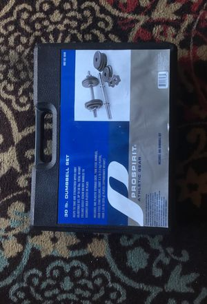 Pro spirit 30 pound dumbbell set for Sale in Durham, NC