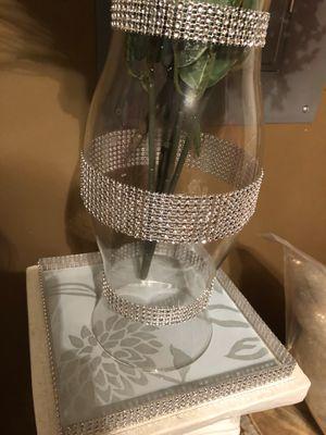 Crystal/Rhinestone Vase for Sale in Rome, GA