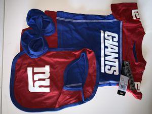 NY Giants NFL 3 piece onesie set bib, booties, onesie 12 m for Sale in Killeen, TX