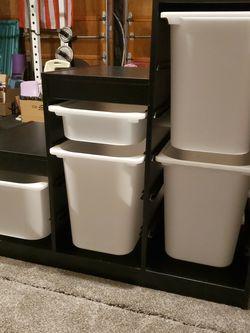 Black IKEA Trofast With Bins for Sale in Everett,  WA