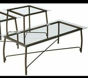 Signature Design by Ashley - Burmesque Contemporary Occasional Glass Top Table Set - Includes Cocktail Table and 2 End Tables, Bronze - $100 for Sale in Phoenix, AZ