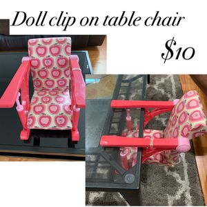 Doll clip on chair for Sale in Cypress, CA