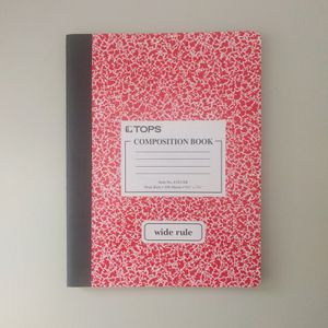 Composition Notebook Red Wide Rule for Sale in Ashburn, VA