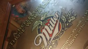 Miller lite mirror mural of great inventers for Sale in Durham, NC