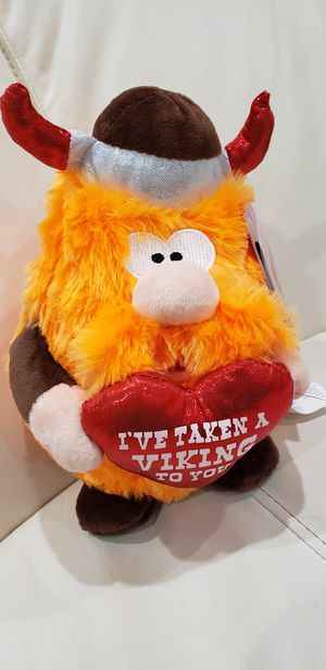 "Viking Valentine's day stuffed animal. Sings ""I'm too sexy for my shirt"" song and the cheeks light for Sale in Ontario, CA"