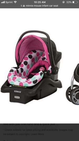 Cisco Infant Minnie Mouse Car seat for Sale in Jacksonville, FL
