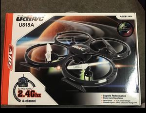 UDI U818A 2.4GHz 4 CH 6 Axis Gyro RC Quadcopter with Camera RTF Mode 2 (1pcs battery) for Sale in Fort Worth, TX