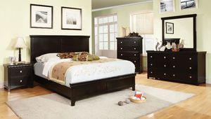 4-Pc Espresso Solid Wood Queen Bedroom Set for Sale in Fresno, CA