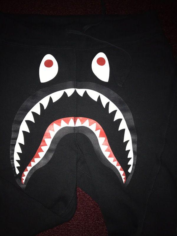 Bape black sweatpants a bathing ape Supreme box logo BBC shark