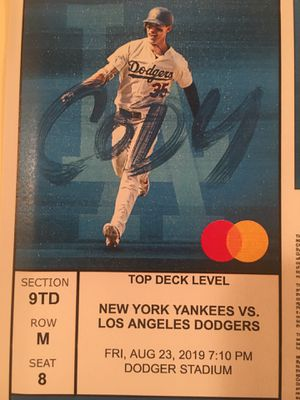 LA Dodgers vs. New Yankees Tickets for Sale in Long Beach, CA