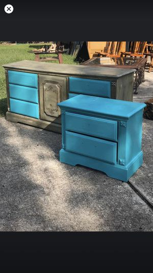 Matching project dresser and nightstand for Sale in Houston, TX