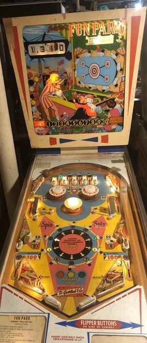 "Pinball Machine ""FUN PARK"" Scarce 1968 Gottlieb Add-A-Ball Wedgehead Arcade game for Sale in Orange, CT"
