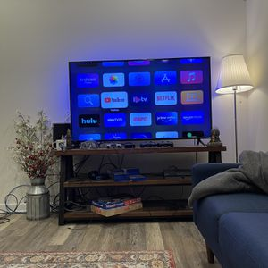 """60 Inch 4K smart tv + stand table """"must go"""" for Sale in Philadelphia, PA"""