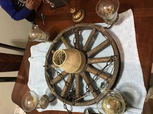 Wagon wheel chandelier for Sale in Miami, FL