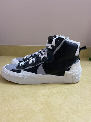 Nike Blazer Mid Sacai Black Grey Excellent Conditon Size 9 READ for Sale in Rockville, MD