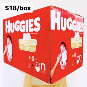 Newborn (Up to 10 lbs) Little Snugglers (72 diapers) - $18/box for Sale in Anaheim, CA