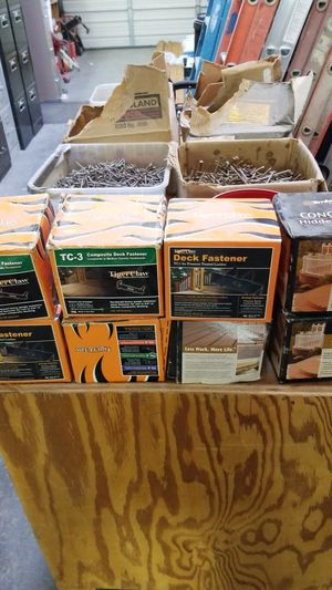 Can positive deck fasteners for Sale in Mukilteo, WA