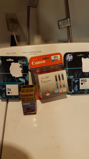 HP Cannon and Lexmark ink jet printer ink Cartridges bundle for Sale in Fresno, CA