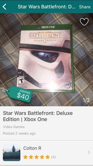 Star Wars Battlefront: Deluxe Edition | Xbox One (Repost) for Sale in Lake Stevens, WA