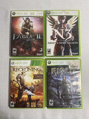 Risen, Fable 2, King of Arthur, N3 Xbox 360 Game Bundle for Sale in Fontana, CA