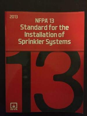 NFPA 13 Sprinkler instalation code book for Sale in Kissimmee, FL