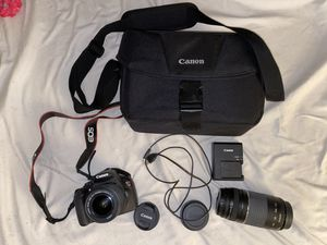 Canon Rebel T5 Digital camera with (2 LENSES) 18-55mm + Wide Angle Lens for Sale in Los Angeles, CA