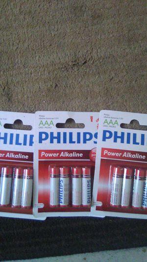 Philips Batteries AAA for Sale in Bakersfield, CA