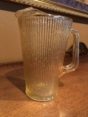 Carnival Glass Pitcher from the 1040's in excellent condition for Sale in Corona, CA