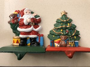 Midwest Importers Cast Iron Christmas Stocking Holder Hanger Set Of 2 for Sale in Washington, DC