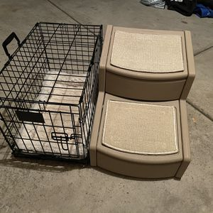 Dog Cage And Steps For Small Dog Breeds for Sale in Mundelein, IL