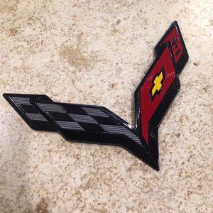 Chevrolet Corvette C7 Stingray Emblem Z06 Grand Sport Cross Flags Black for Sale in Decatur, AL