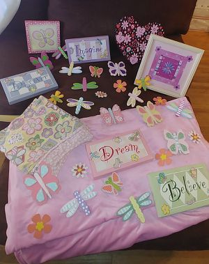 Girls bedroom decorations, curtains, accessories, window for Sale in Lake Elsinore, CA