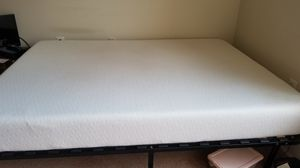 Queen size bed frame and mattress (memory foam) for Sale in Arlington, VA