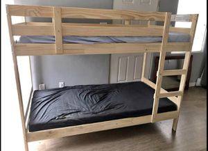 IKEA bunk bed with mattress is like new price is firm for Sale in Chula Vista, CA